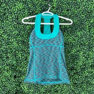 Turquoise Lululemon Workout Shirt